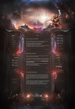 L2 Battle World Game Website Template