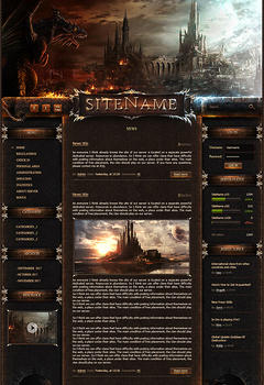 L2 Dragon Castle Game Website Template