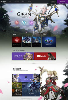 Giran L2 Game Website Template