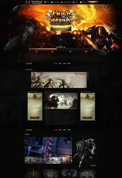 L2 Knight Arena Game Website Template