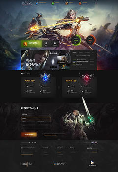 Rise of the Endor Game Website Template